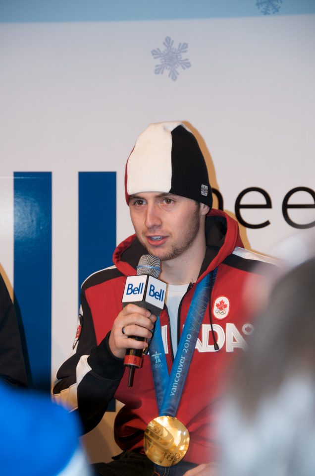 Alexandre Bilodeau at the Bell Ice Cube