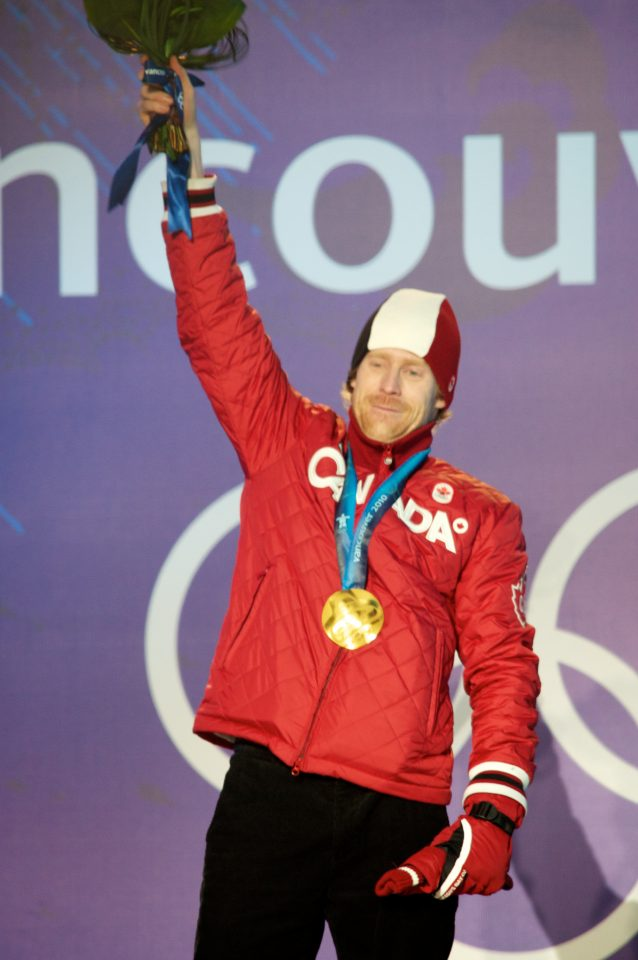 Jon Montgomery Receives His Gold Medal