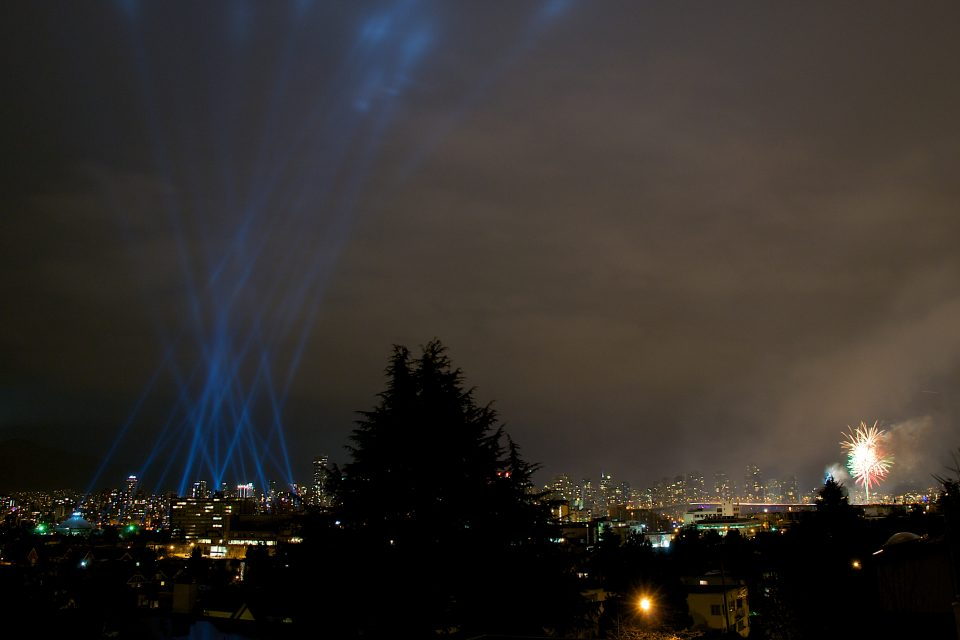 Vectorial Elevation Vancouver and Livecity Fireworks