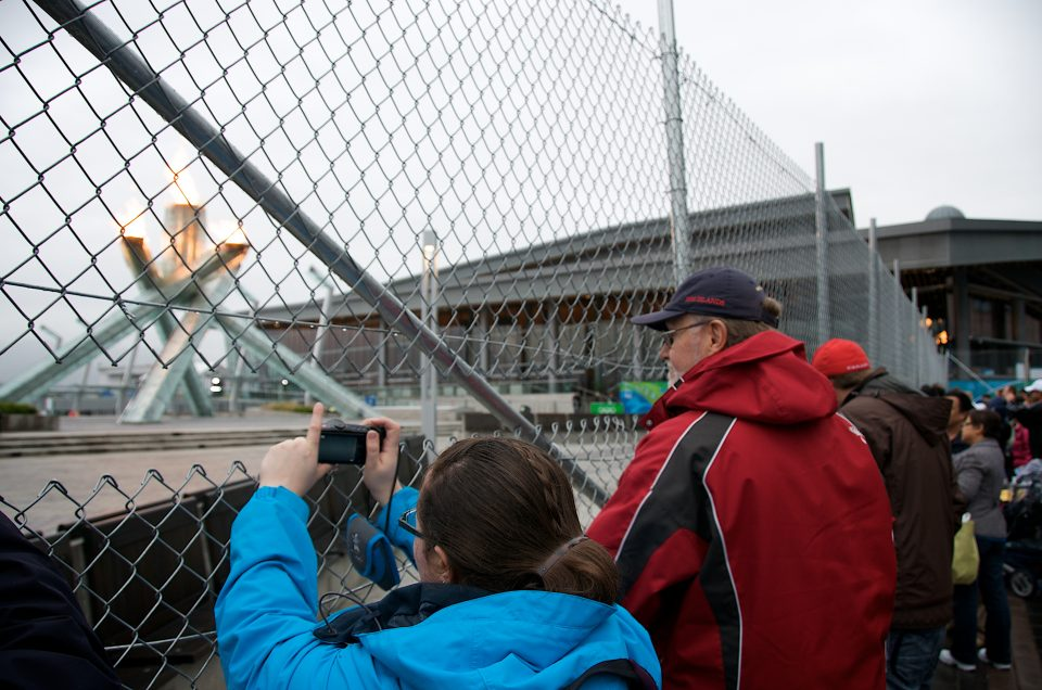 Dad at the Olympic Cauldron