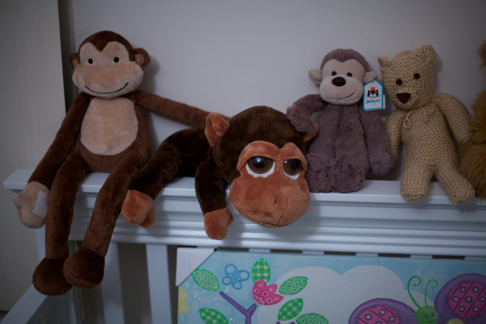 Monkeys in Monikas Baby Room