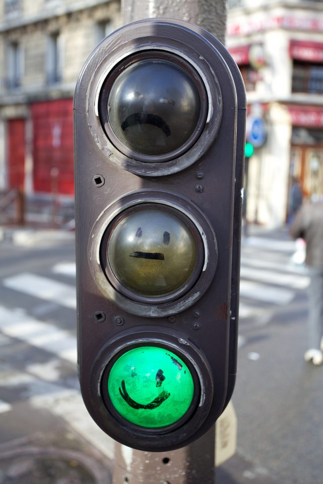 Green Light Smiley