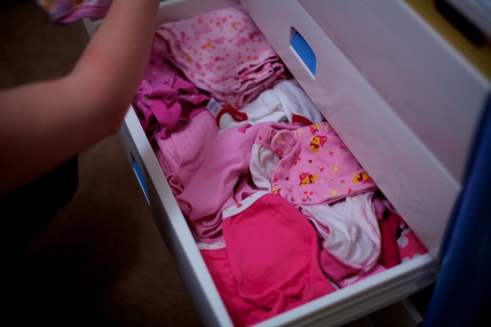 One of Monika's Baby Clothes Drawers