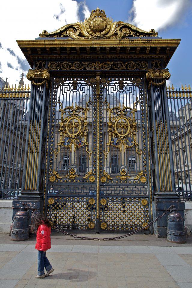 Child and Gold Door