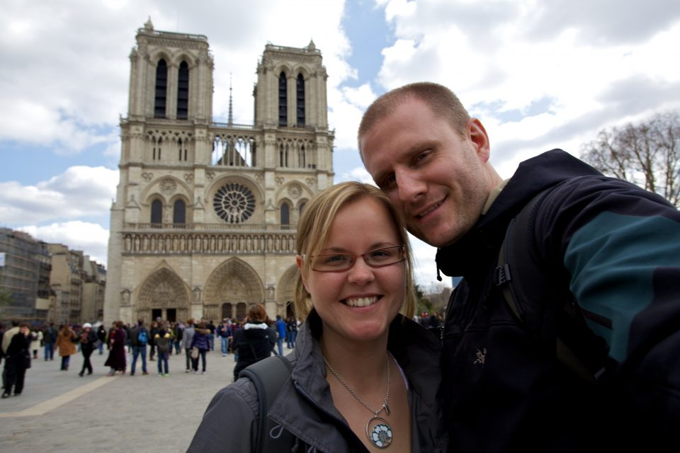 Dorothy and I at Cathédrale Notre Dame