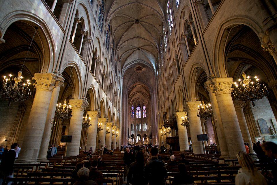 Inside Cathédrale Notre Dame
