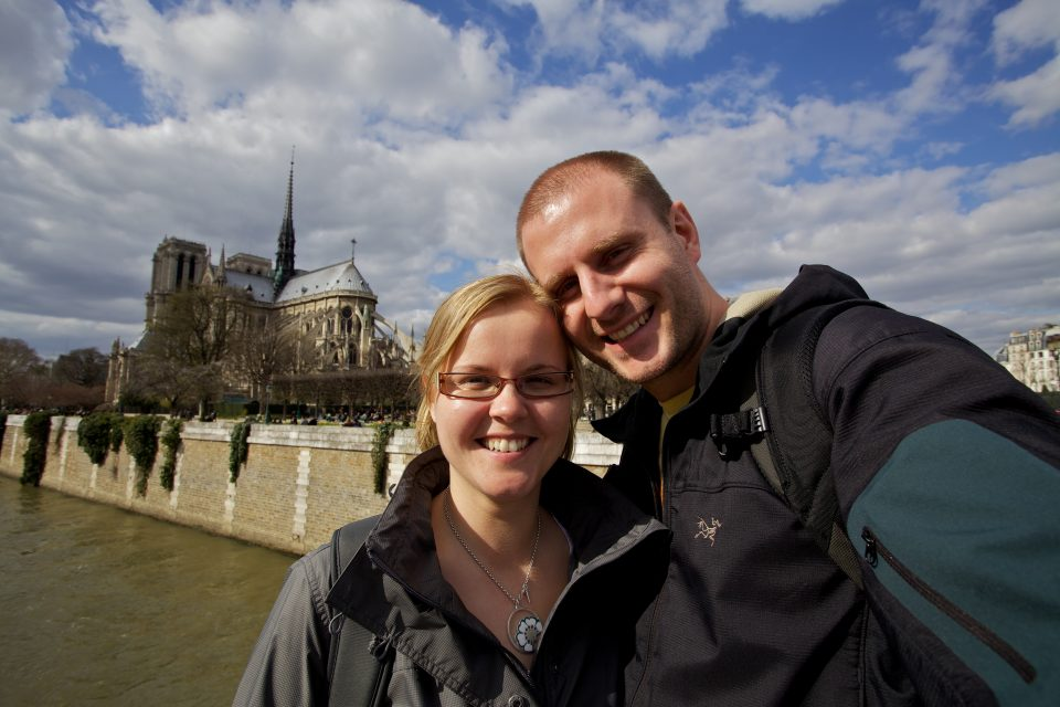 Dorothy and I at the Cathédrale Notre Dame