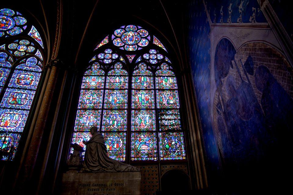 Stain Glass Window inside Cathédrale Notre Dame