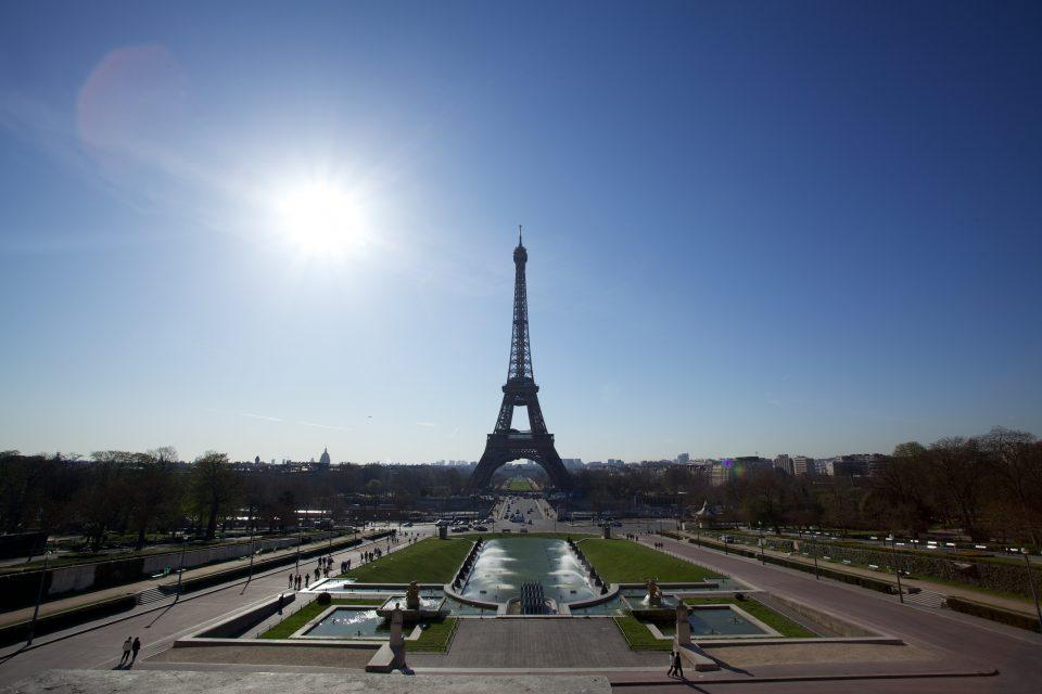 Eiffel Tower Lens Flare