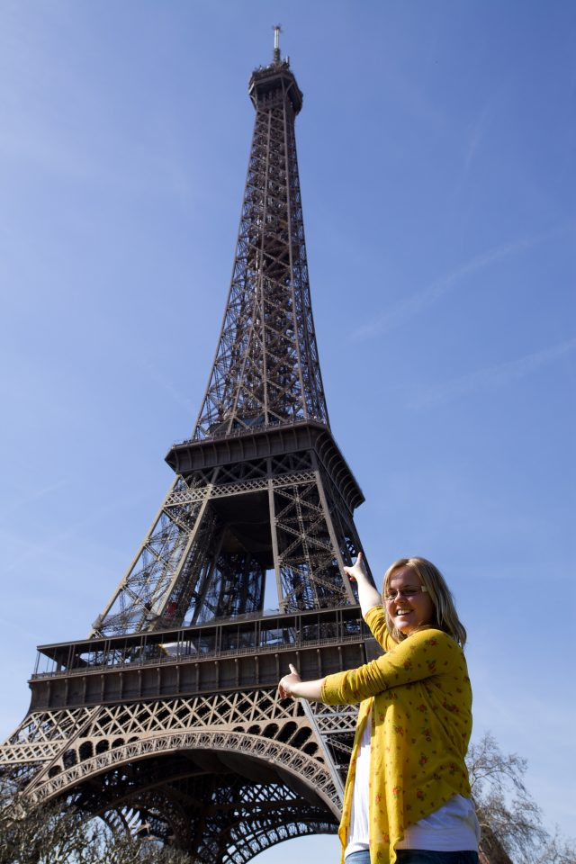 Dorothy at the Eiffel Tower