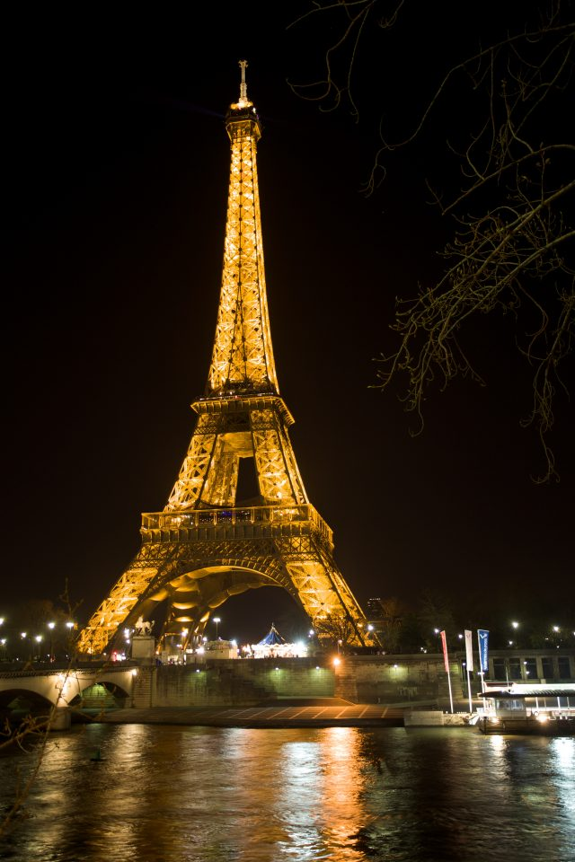 Seine River and The Eiffel Tower at Night