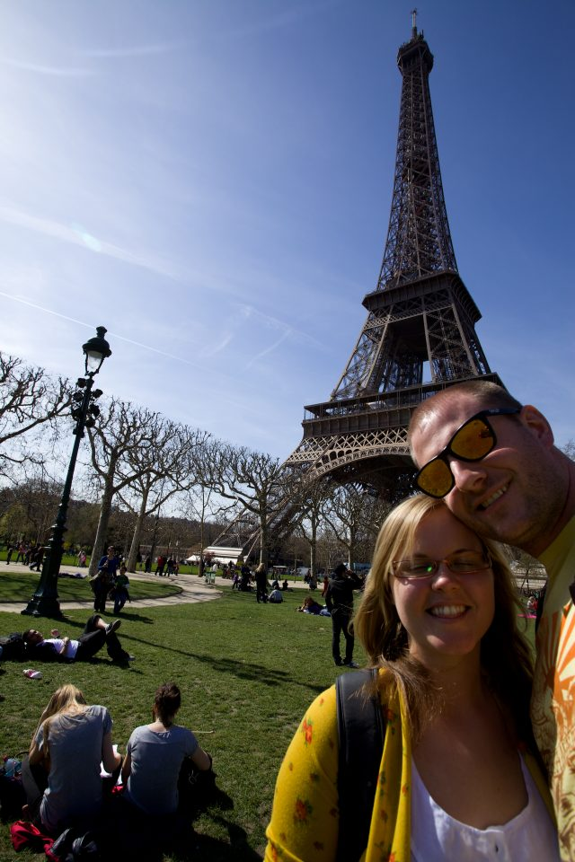 Dorothy and I at the Eiffel Tower