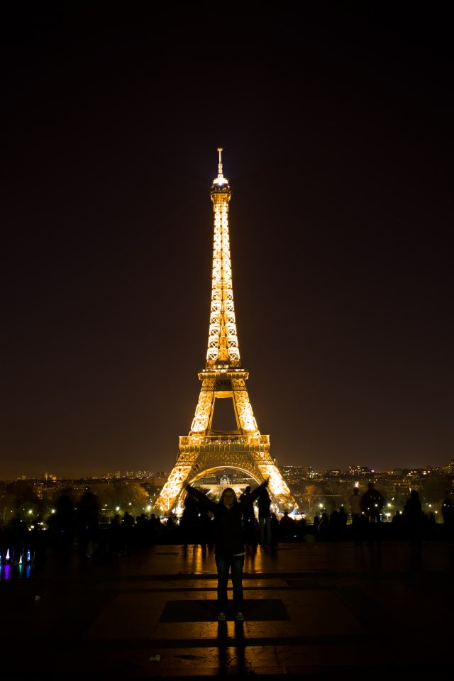 Dorothy and the Eiffel Tower at Night