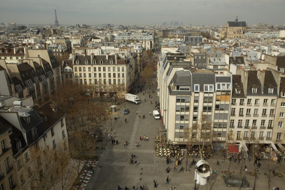 Paris view from Centre Pompidou