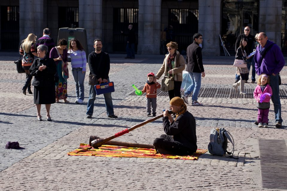 Australian Didgeridoo in Madrid Spain