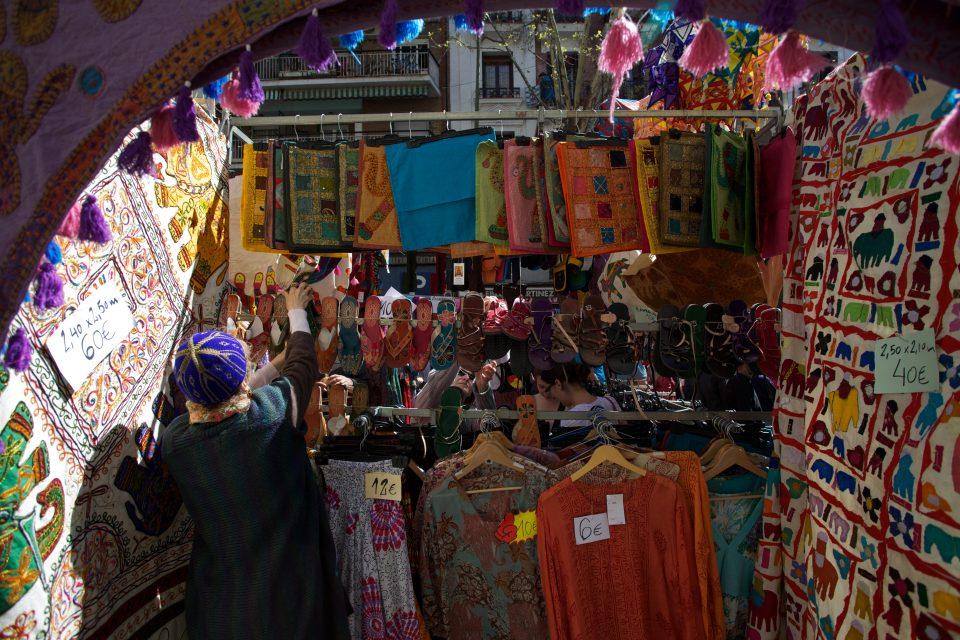 Vendor at El Rastro Flea Market