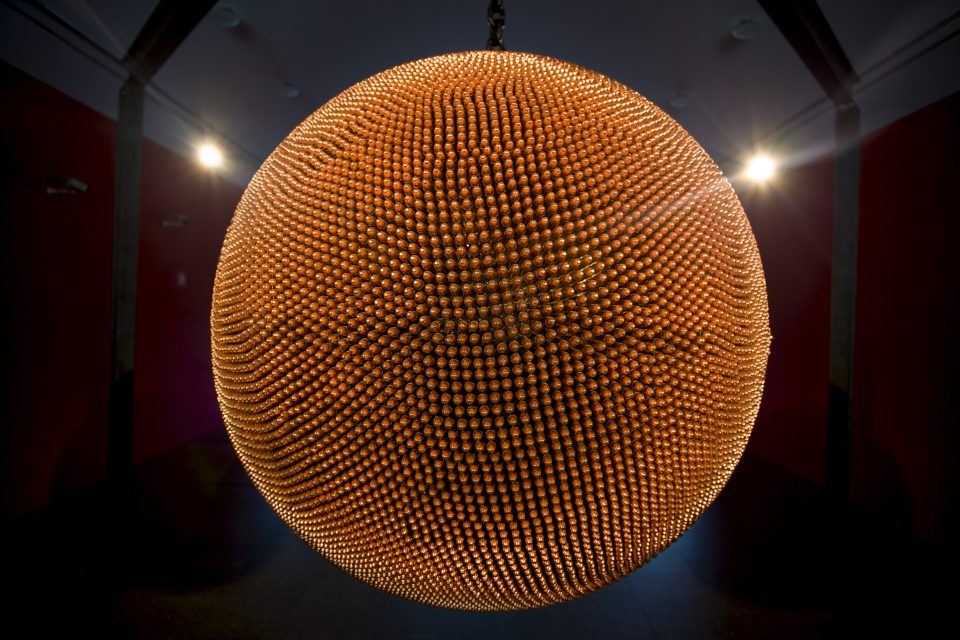 Sphere Made of Bullets