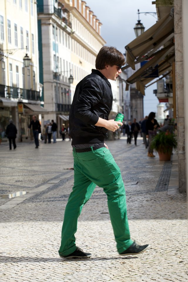 Green Pants and Drink