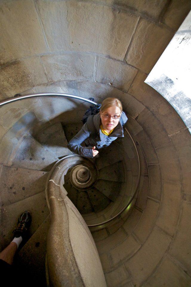 La Sagrada Familia Winding Stairs From Above