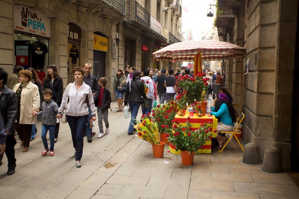 Barcelona La Diada de Sant Jordi