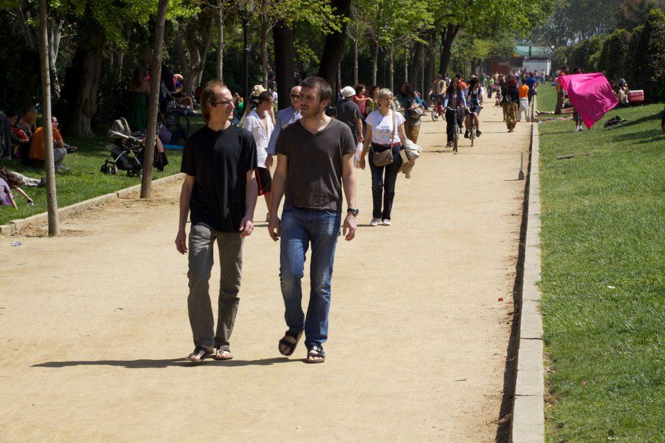 Talking a walk in the park