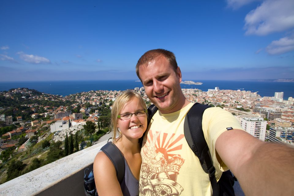 Dorothy and I at Notre-Dame de la Garde Marseille