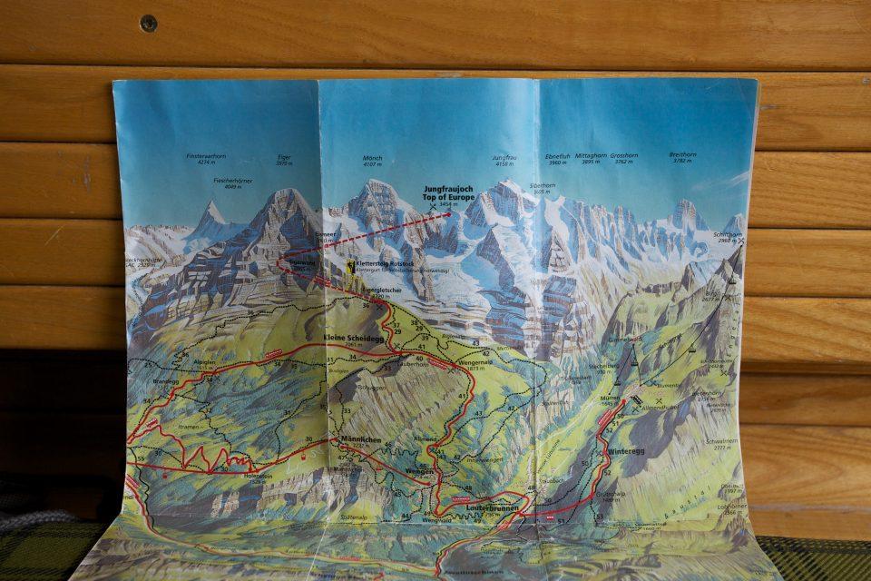 Swiss Hiking Map