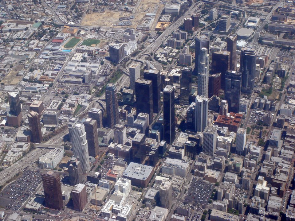 Aerial View Los Angeles Downtown
