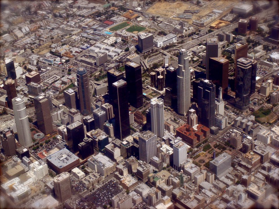 Aerial Photo of downtown Los Angeles California