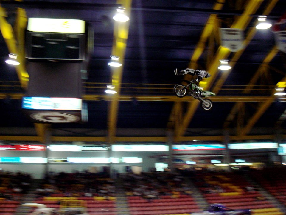 huge air on a motocross bike