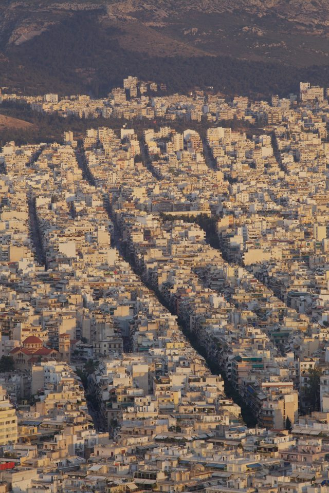 Aerial View Athens Greece