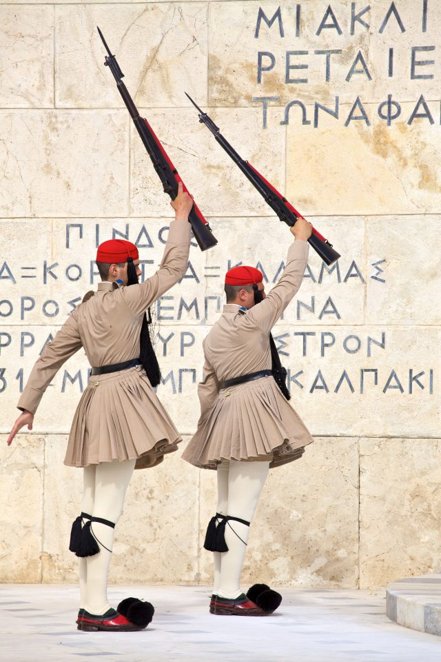 Soldiers Athens Greece Hellenic Parliament / The Evzones Athens Greece