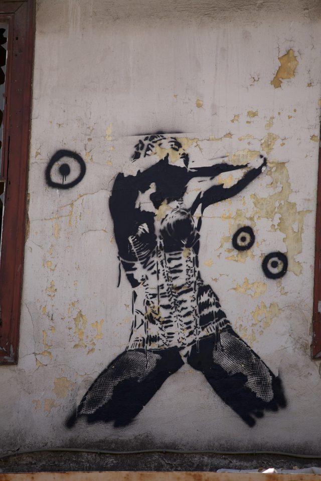 Madonna Street Art Athens Greece