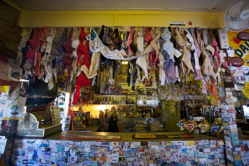 Bras Hanging From The Bar Daly Waters Pub Australia
