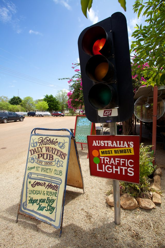 Australia's Most Remote Traffic Lights Daly Waters Pub Australia
