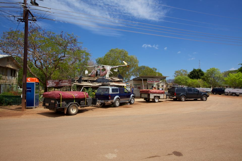 Vehicles Parked Outside Daly Waters Pub Australia