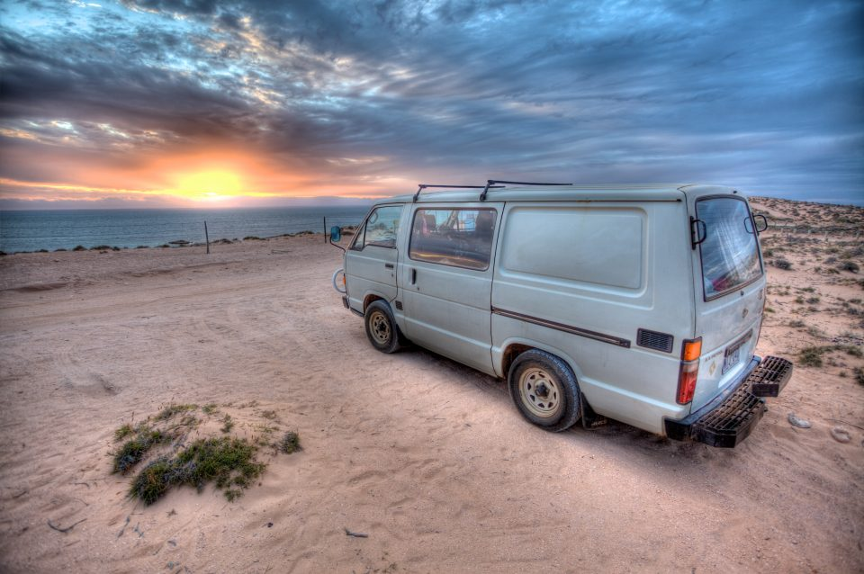 Our Van at Sunset