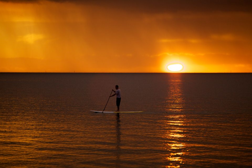Sunset Paddleboarding Melbourne Australia