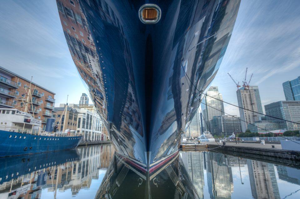 Paul Allen's Yacht Octopus at London 2012 Olympics