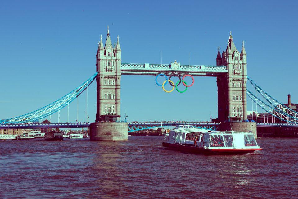 London 2012 Olympic Rings Tower Bridge