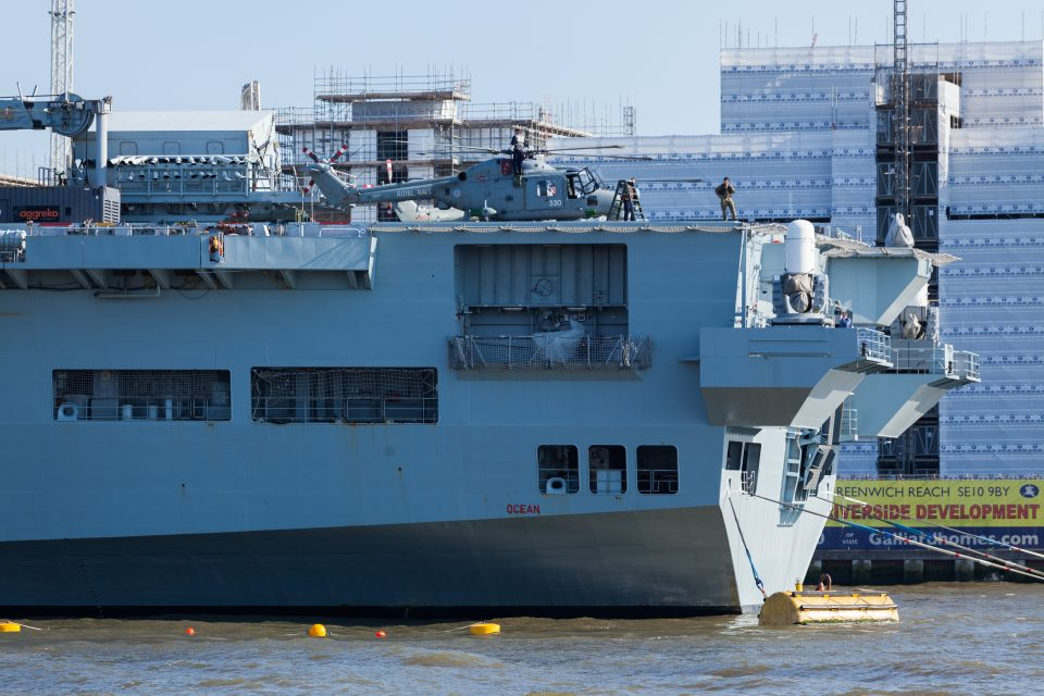 Royal Navy Ship London 2012 Olympics