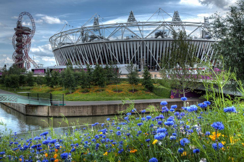 Olympic Stadium with Flowers London 2012 Olympics 0167