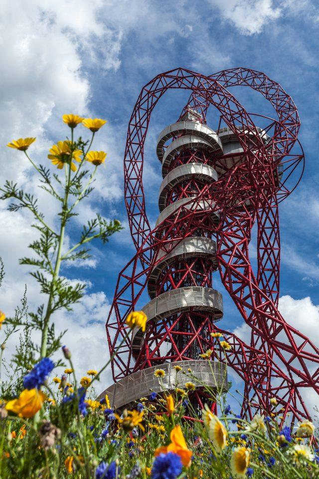 Orbit With Flowers London 2012 Olympics 0172