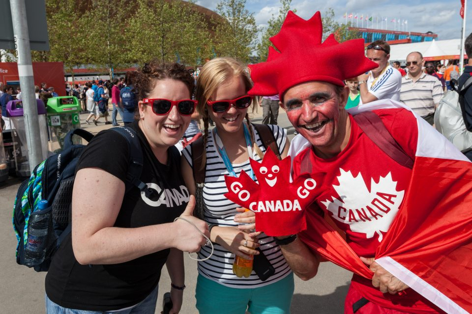 Diane Dorothy and Awesome Canadian Fan London 2012 Olympics 0269