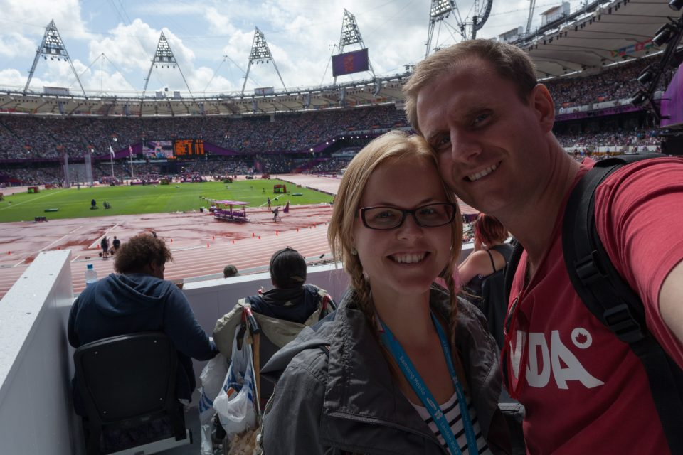 Dorothy and I at the Olympic Stadium London 2012 Olympics 0246