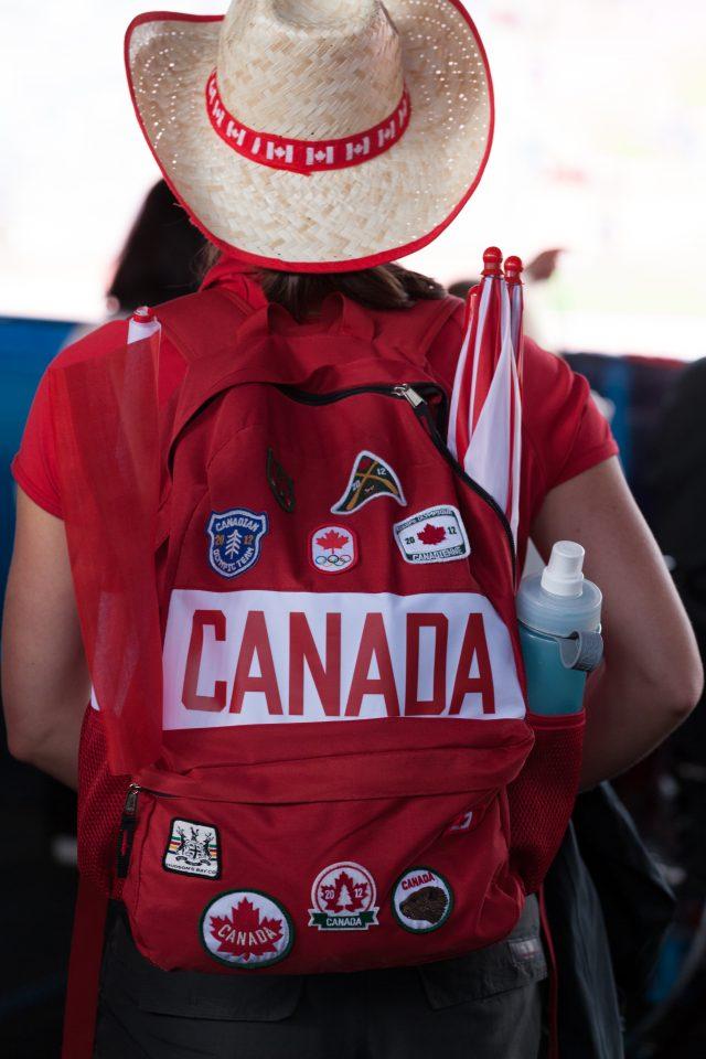 Canada Fan Does it Right London 2012 Olympics 0228