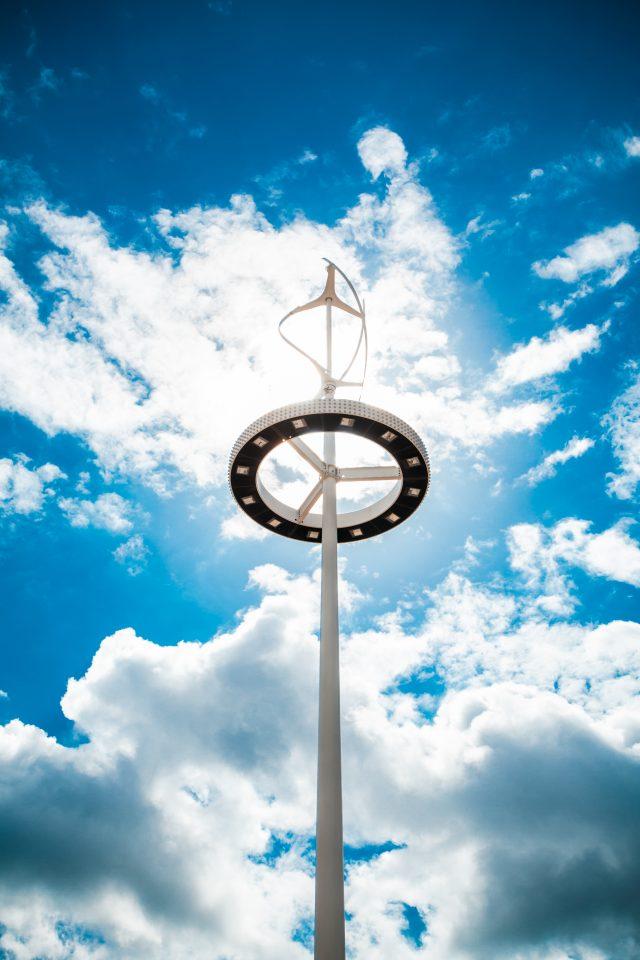Wind Turbine at Olympic Park London 2012 Olympics 0213