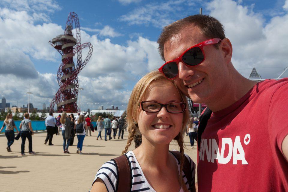 Dorothy and I at the Orbit London 2012 Olympics 0211