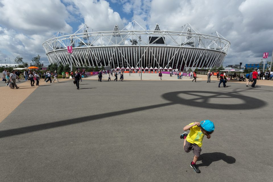 Young Boy Playing at Olympic Stadium London 2012 Olympics 0212