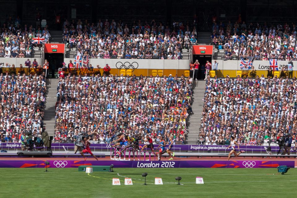 Hurdlers and Fans London 2012 Olympics 0220